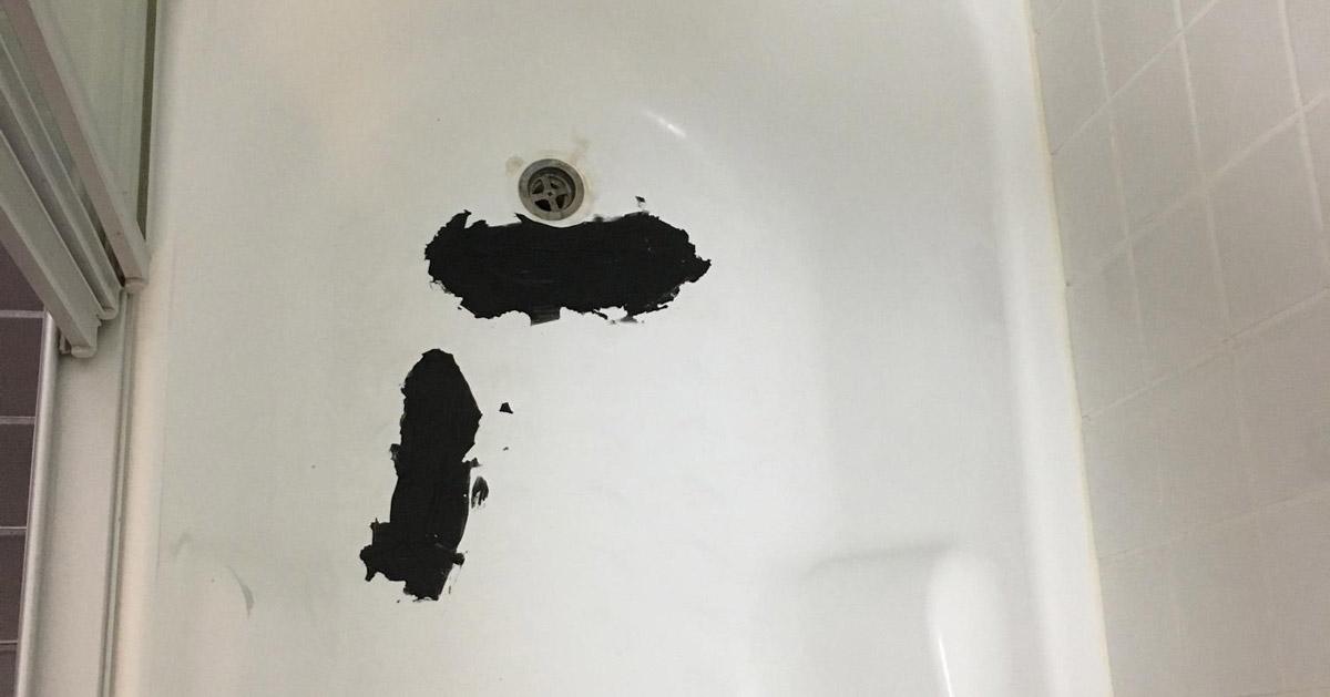 Cracked bath tub